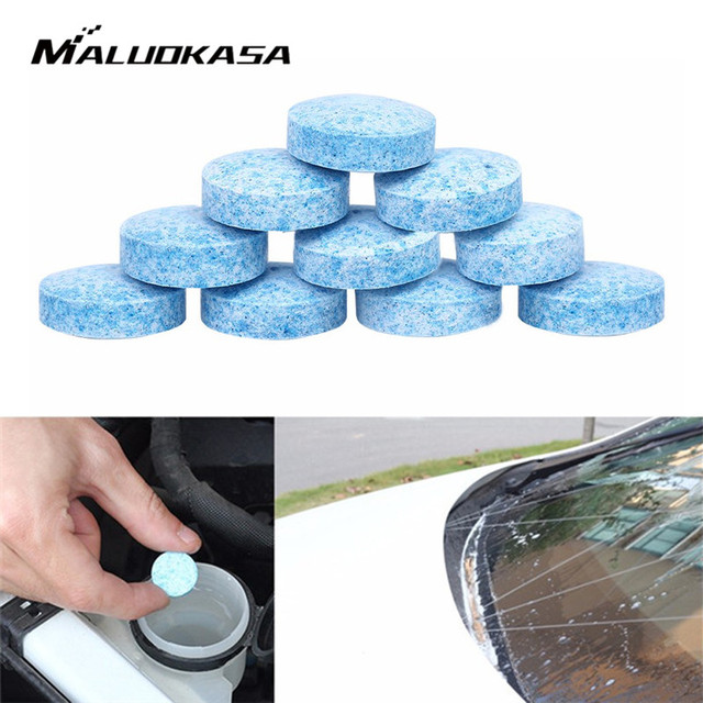 10 Pcs Concentrated Effervescent Tablets Car Solid Window Cleaner Windshield Wiper Washer Glass Fluid Screen Detergent