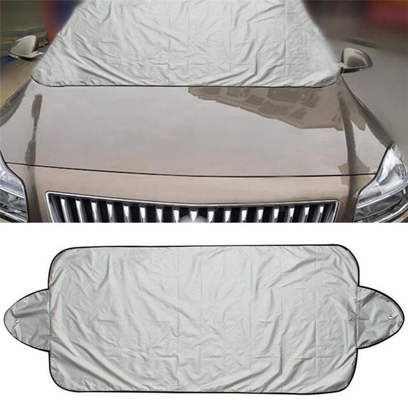 190T Polyester Taffeta Sunshade Car Snow Car Load Coated Silver Buscher Block in Car Covers from Automobiles Motorcycles