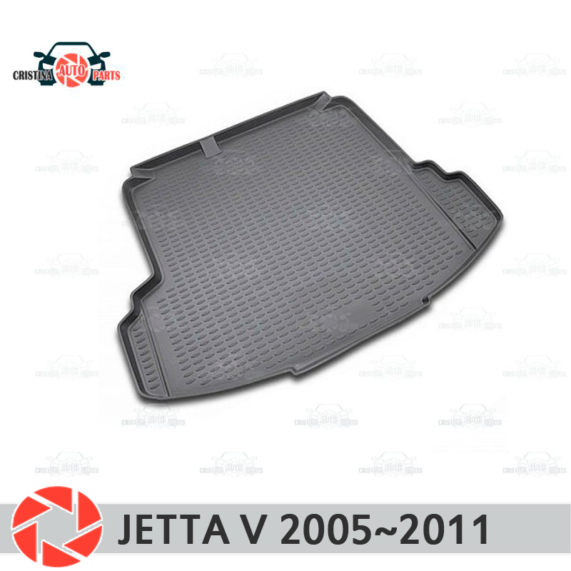 Mat tronco para Volkswagen Jetta V 2005 ~ 2011 trunk piso tapetes antiderrapante poliuretano proteção sujeira interior do carro tronco styling