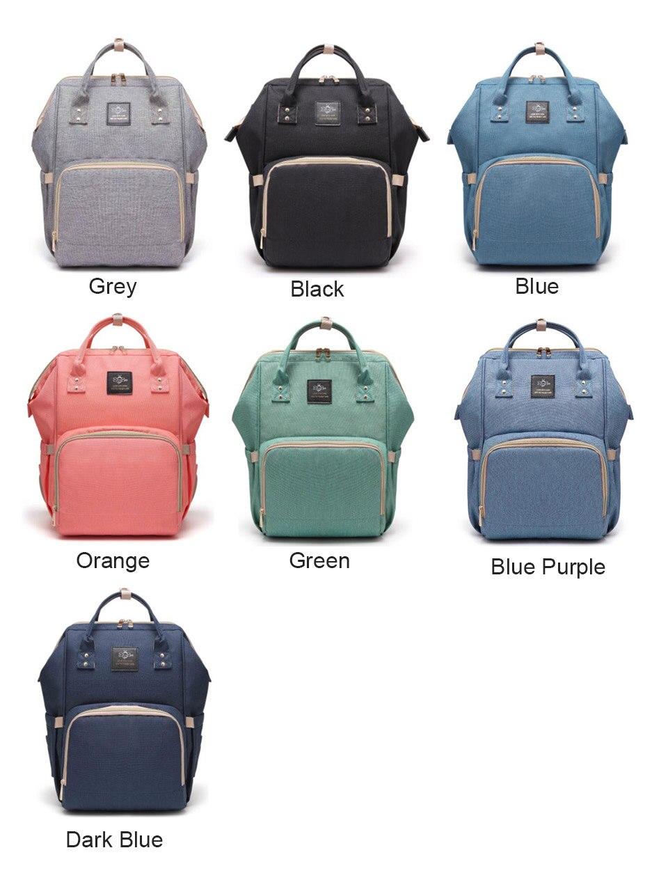 Купить с кэшбэком New Upgraded Diaper Bag Fashion Mummy Maternity Nappy Bag Large Capacity Baby Bag Travel Backpack Designer Nursing Bag Baby Care