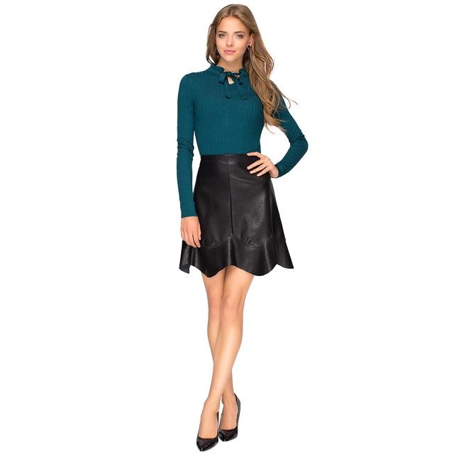 Gloria Jeans Стильная юбка из эко-кожи для девушки GSK007201