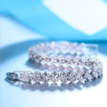 925 Nueva Moda de Cristal de Swarovski Pulsera Intermitente pequeño cisne Bangles Mujeres Romántico regalo de Navidad