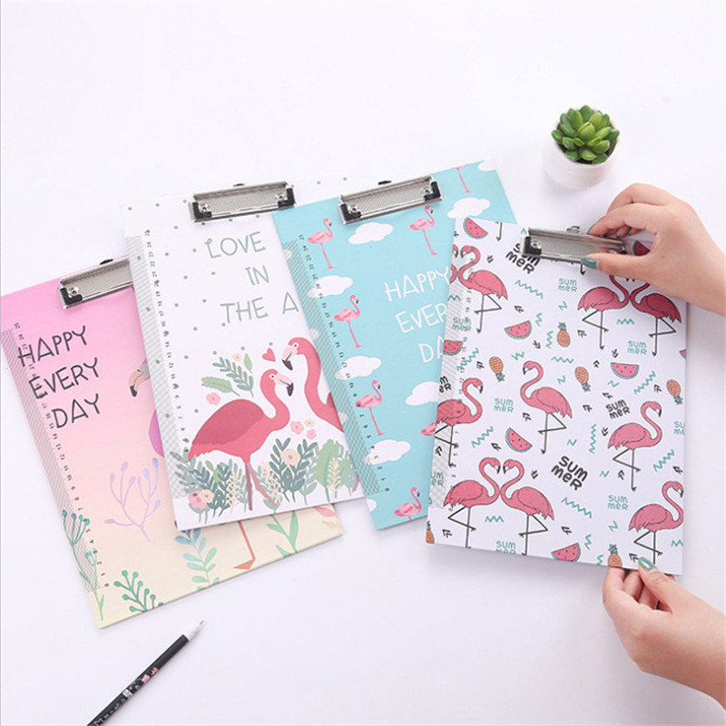 Coloffice Cartoon writing clipboard clip pad student A4 folder writing creative patten school office stationery random color 1PC creative a4 clipboards lovely stationery store clip folder board desk file drawing writing pad school office accessory tool jb04