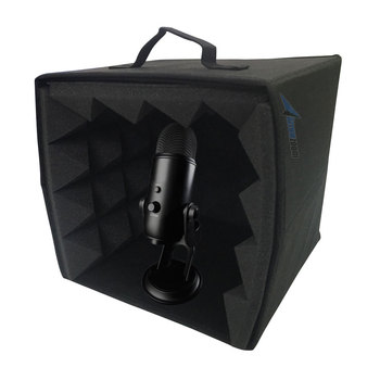 Arrowzoom 10.6 x 10.6 x 11 Portable Microphone Booth Studio Recording Vocal Isolation Foam Box