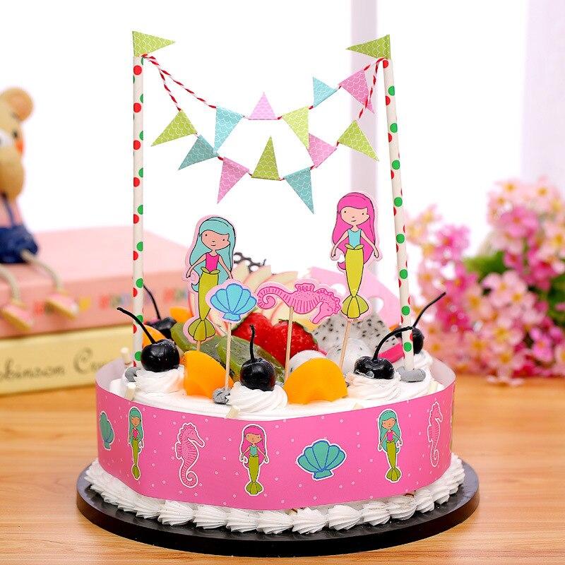 Prinzessin Pirate Dinosaurier Thema Cupcake Topper Cartoon Kuchen