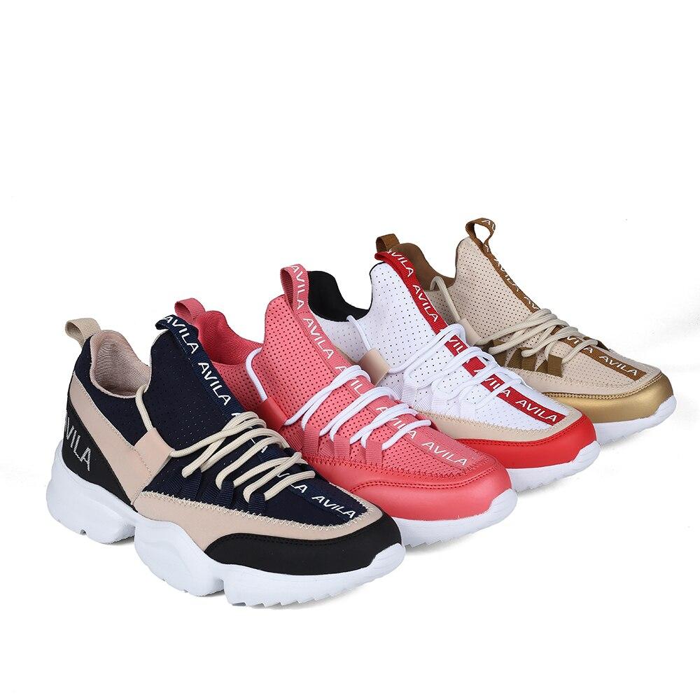 Sapatilhas sapatilhas das mulheres feias AVILA RC720_AG020013-04-4 primavera runing sapatos sapatos de desporto sapatos de PU para as mulheres do Navio a partir de Rússia
