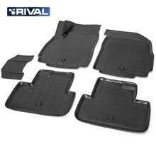 Для Chevrolet Orlando 2011-2015 Коврики 3D в салон 5 шт./компл. полиуретан Rival 11005001