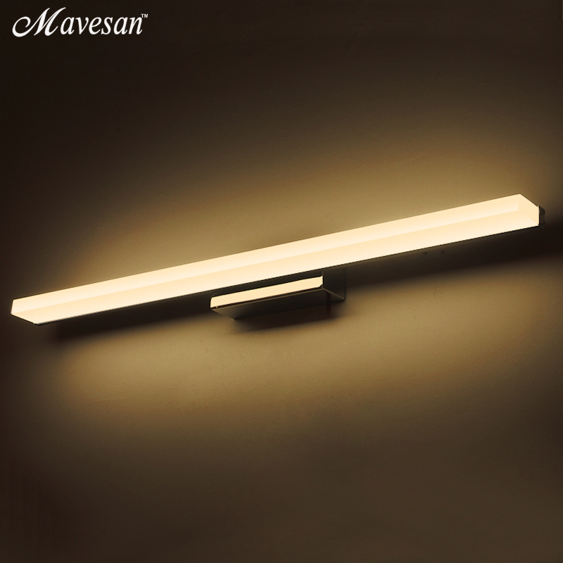 Modern Mirror LED Wall Lights for Bathroom makeup 40cm 100cm wall sconce lampe deco stainless steel