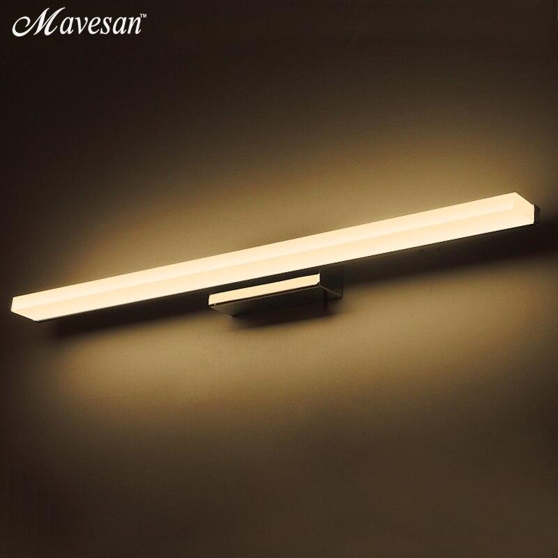 modern led mirror lights 40cm 100cm wall lamp bathroom bedroom headboard wall sconce lampe deco. Black Bedroom Furniture Sets. Home Design Ideas