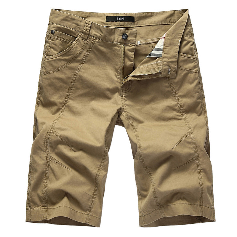 Summer Hot Cotton   Short   Pants Men Casual Slim Solid Cargo   Shorts   Men Bermuda Mens Beach   Shorts