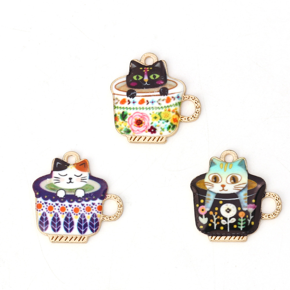 Doreen Box Zinc Based Alloy Charms Cup Gold Metal