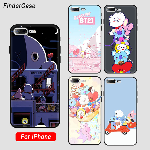 bed942f4bdb FinderCase for iphone 7 plus case BT21 Apple Phone Cover Patterned Phone  funda for iPhone 8 7 6 6S Plus X 5 5S SE