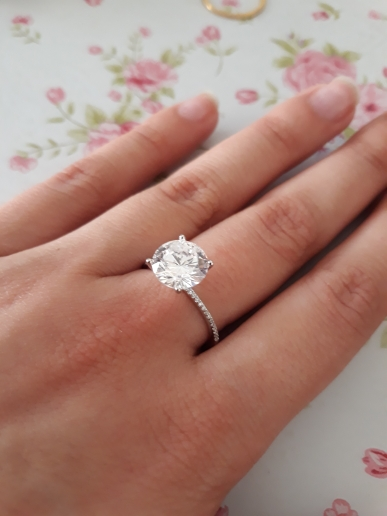 Classic 925 Sterling Silver 3ct Zircon Ring photo review
