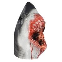Horror Shark Mask Latex Scary Animal Head Fancy Dress Party Ocean Fish Costumes Cosplay