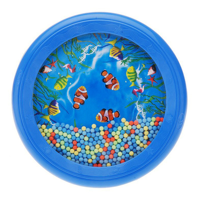 Eva2king Newly Blue Ocean Wave Bead Drum Fishes Musical Educational Toy Music enlightenment For Children Kids Baby Learning Toys
