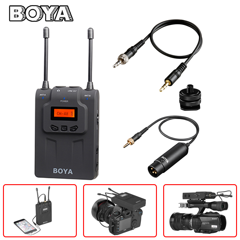 BOYA BY-WM8R Dual Channel UHF Wireless Microphone Receiver for Handheld Video Mic Transmitter BY-WHM8 BY-WXLR8 ENG EFP Karaoke