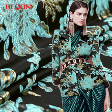HLQON High quality occident style brocade jacquard yarn dyed fabric used for dress women clothing wind coat parchwork