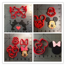Cartoon Character Micky Mouse Cookie Cutters til Fondant Cupcake Top Mouse Shape Cutters til Cake Decoration Værktøj Tilbehør