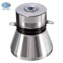 1 шт. алюминиевый сплав 28 кГц 100 вт ультразвуковой пьезоэлектрический преобразователь очиститель серебристого высокопроизводительного ультразвукового очистителя