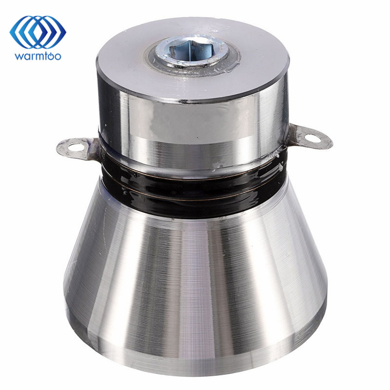1Pcs Aluminum Alloy 28KHz 100W Ultrasonic Piezoelectric Transducer Cleaner Silvery High Performance Ultrasonic Cleaner Parts