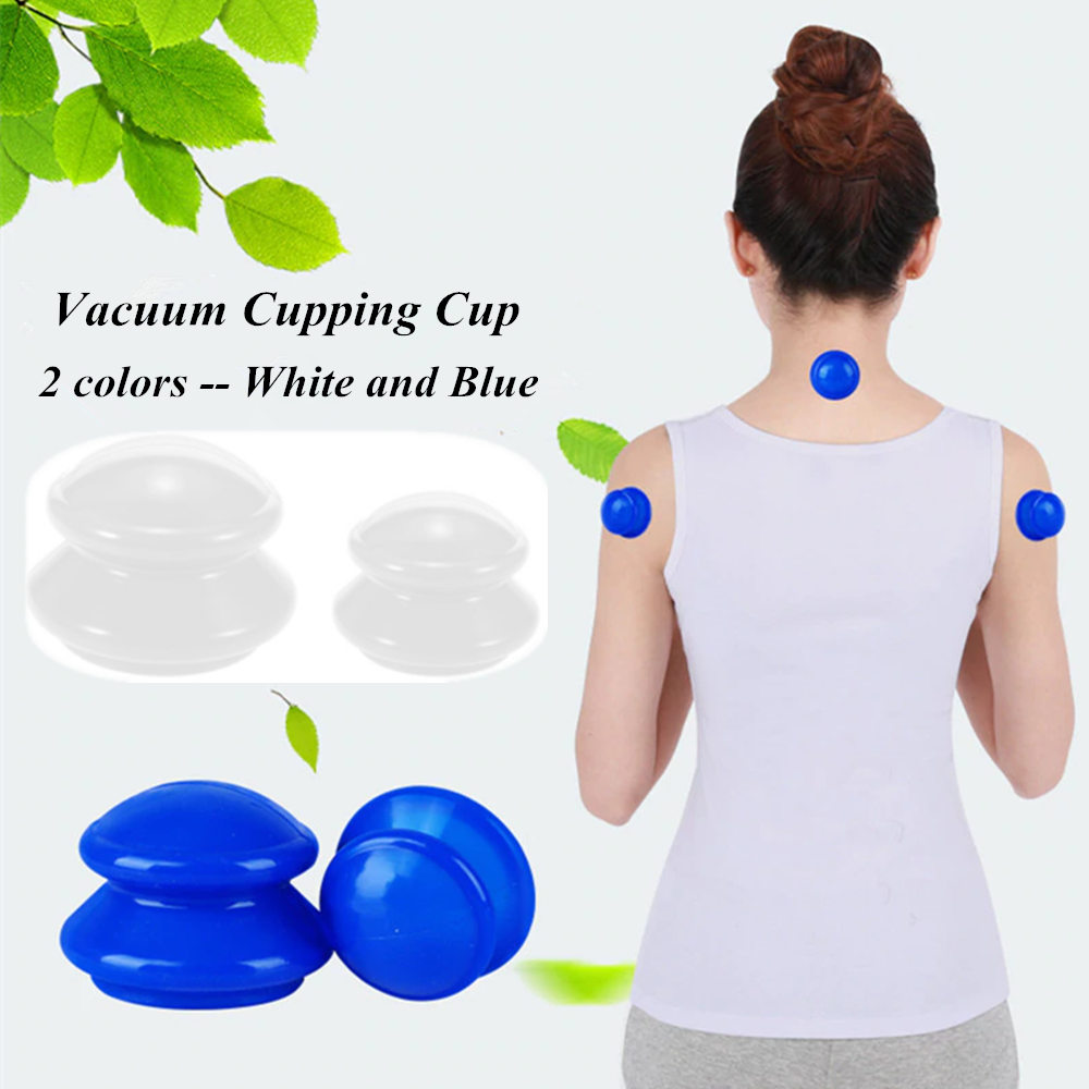4Pcs Family Body Massage Helper Anti Cellulite Vacuum Silicone Cupping Cups Brand new and High quality Therapy