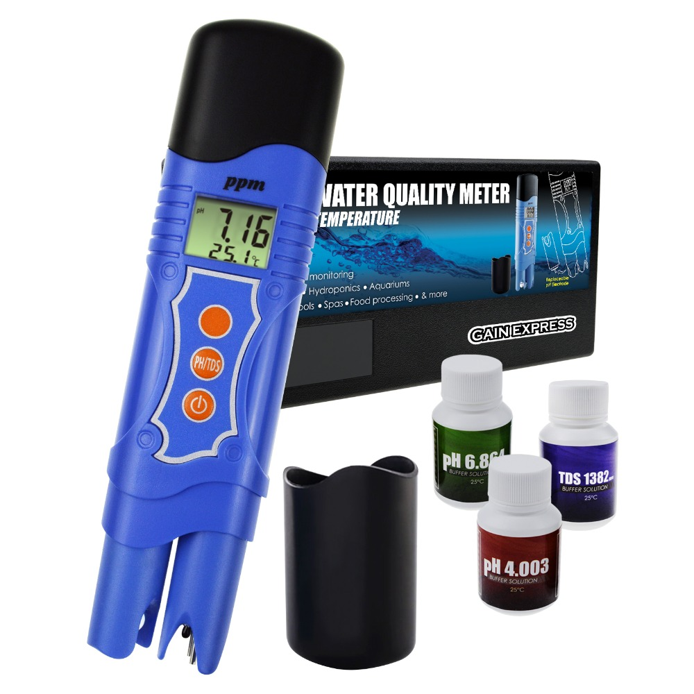3 in 1 pH TDS Temperature Meter Combo Water Quality Tester Digital Pen Type with ATC