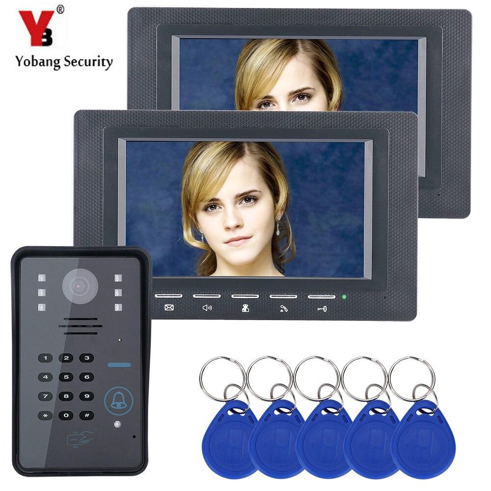 """Yobang sécurité 7 """"mot de passe RFID cartes déverrouiller porte caméra visuel maison Interphone vidéo sonnette porte téléphone Interphone système-in Vidéo Interphone from Sécurité et Protection on AliExpress - 11.11_Double 11_Singles' Day 1"""