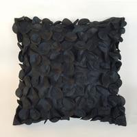 45*45 cm nero/Blu Pavone/viola handmade ferro di Cavallo fiore cuscino copre divano federa casa decorativa floreale copertura del cuscino