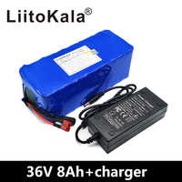 LiitoKala 36 v 8Ah 500 w High Power and Capacity 42 v 18650 Lithium Battery Electric Motorcycle Bicycle Scooter with BMS