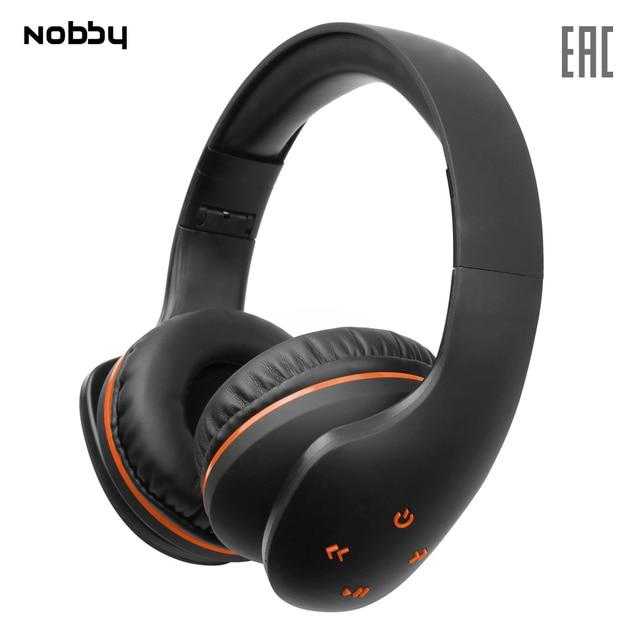 Беспроводные наушники Nobby Comfort B-215 , USB, удобные, стереогарнитура, портативные, черно-оранжевый