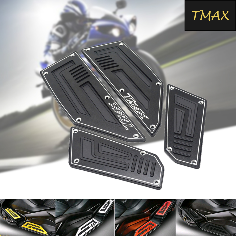 Motorcycle Front and Rear Motorcycle Foot Pegs Footboard Step Foot Plate For YAMAHA TMAX 530 tmax