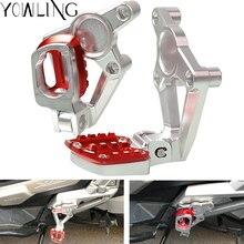 YOWLING Motorcycle accessories For HONDA XADV 750 XADV750 XADV-750 2017 2018 Folding Rear Foot Pegs Footrest Passenger