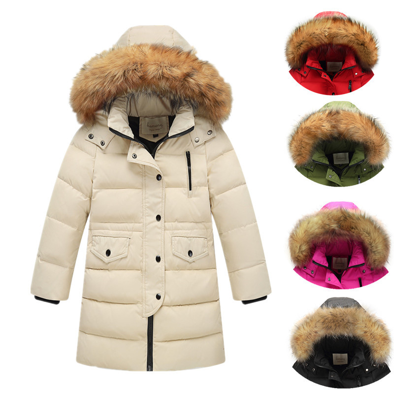 AILEEKISS 30 Degree Russia Children Winter Duck Down Girls Thickening Warm Down Jackets Parka Boys Casual