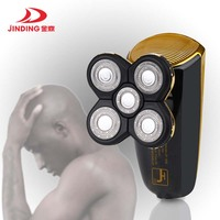 Jinding Portable 5 Blade Electric Shaver Ricoh Head Shave Bald Machine USB Rechargeable Waterproof Razor Shavers