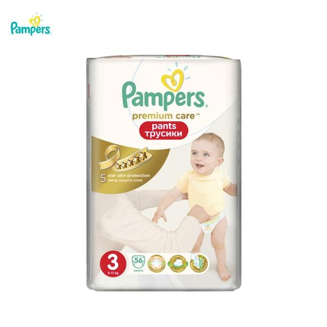Подгузники-трусики Pampers Premium Care 6-11 кг, размер 3, 56 шт.