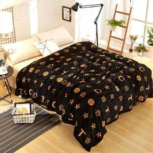 200*120 см/150*200 черное одеяло с модным принтом, Коралловое флисовое покрывало, простыня, одеяло для дивана, чехол для кондиционера