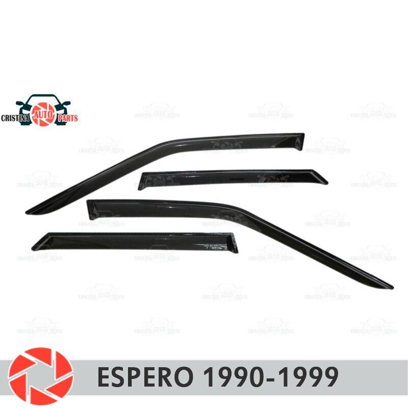 Déflecteur de fenêtre pour Daewoo Espero 1990-1999 déflecteur de pluie protection contre la saleté voiture style décoration accessoires moulage