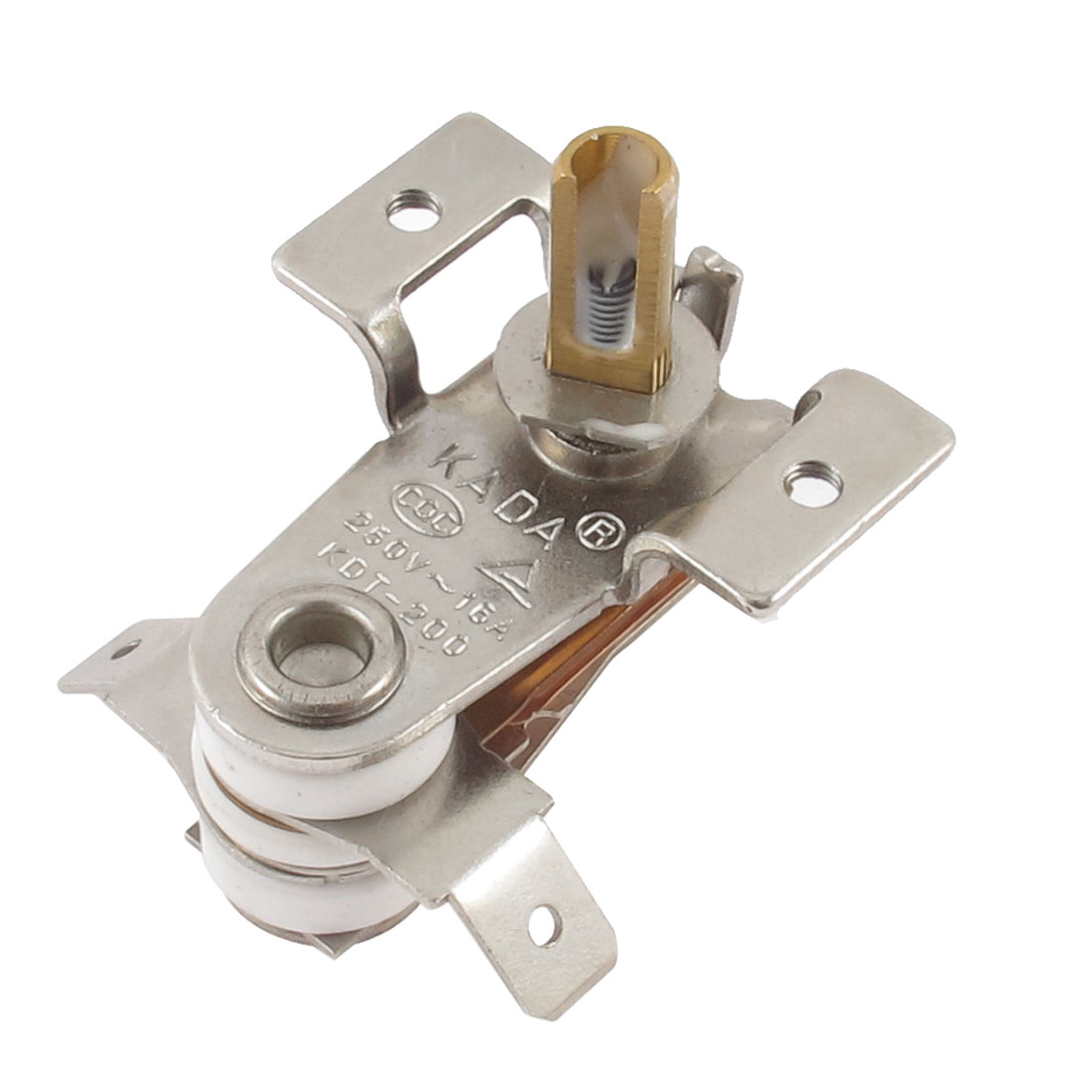 UXCELL Hot Sale AC <font><b>250V</b></font> <font><b>16A</b></font> 100 Celsius Adjustable Temperature <font><b>Thermostat</b></font> 5x13mm Shaft For Electric Oven KDT-200 image