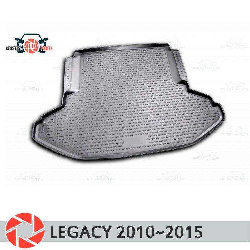 Tapis de coffre pour Subaru Legacy 2010 ~ 2015 tapis de sol de coffre antidérapant polyuréthane protection contre la saleté intérieur de coffre style de voiture