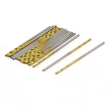 20/30 Pcs 0.7mm Dia 28mm Length Titanium Plated 2-Flute Straight Shank Twist Drill Bit To The Metal Marble Gold Silver