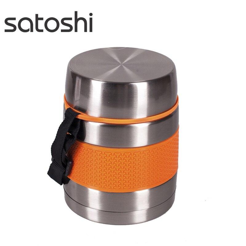 ТЕРМОС-ЛАНЧБОКС 1 л. SATOSHI вакуумный, из нержавеющей стали.