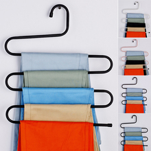 Creative S Shape 5 Layers Wardrobe Storage Hangers Space-saving Large Capacity Clothes Pants Towels Racks Durable Hanger