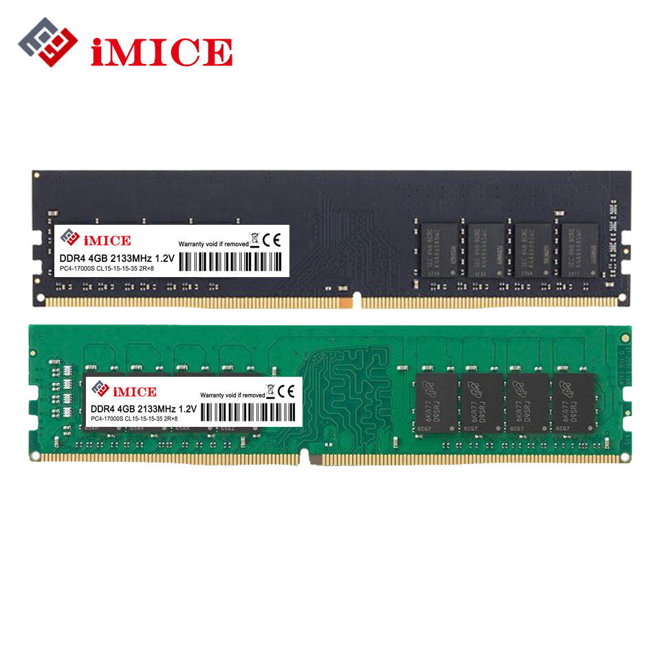iMICE Desktop PC RAMs DDR4 4GB 2133MHz PC4-17000S 1.2V DIMM 8GB 2400MHz PC4-19200S CL16 Compatible For Intel RAM Memory Warranty модуль памяти patriot memory ddr4 dimm 2133mhz pc4 19200 cl14 4gb pve44g213c4gy