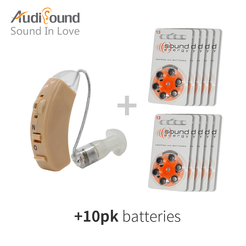 Amplifier Hearing Aid Sound Ear Hearing Aid Kit Adjustable Behind Ear Hearing Device Sound Enhancer Ear Care with 10 pk battery otoscope ophthalmoscope medical ear cleaner care amplifier stomatoscop otoscopio diagnostic hearing device formedical equipment