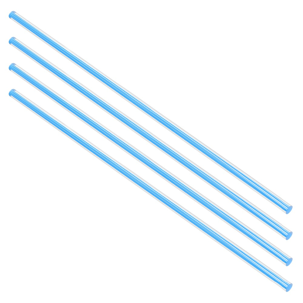 Uxcell 4pcs 250mm Length 6mm Diameter Straight Line Light Blue/White/Yellow/Green Solid Acrylic Round Rod PMMA Bar
