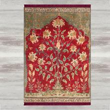 Sonst Ottomane Floral Blumen 3d Print Türkischen Islamischen Muslimischen Gebet Teppiche Tasseled Anti Slip Moderne Gebet Matte Ramadan Eid Geschenke