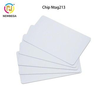 10PCS RFID NFC Card RFID Ntag213 HF 13.56MHZ PVC Plain White card for card Zebra Evoil Datacard IDP printer datacard half panel color ribbon 534000 004 ymckt for sd260 sp75 card printer