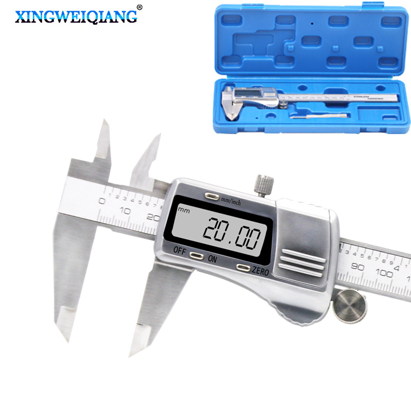0-150mm 6inch Digital Vernier Caliper Waterproof Stainless Steel LCD Electronic Caliper Gauge Tool Metric / imperial conversion 0 150mm 6inch digital vernier caliper waterproof stainless steel lcd electronic caliper gauge tool metric imperial conversion