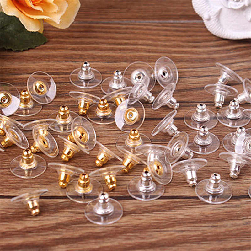 50pcs/bag Earring Durable Film Ear Plug Colors Gold Silver Plated Charming Jewelry Accessories