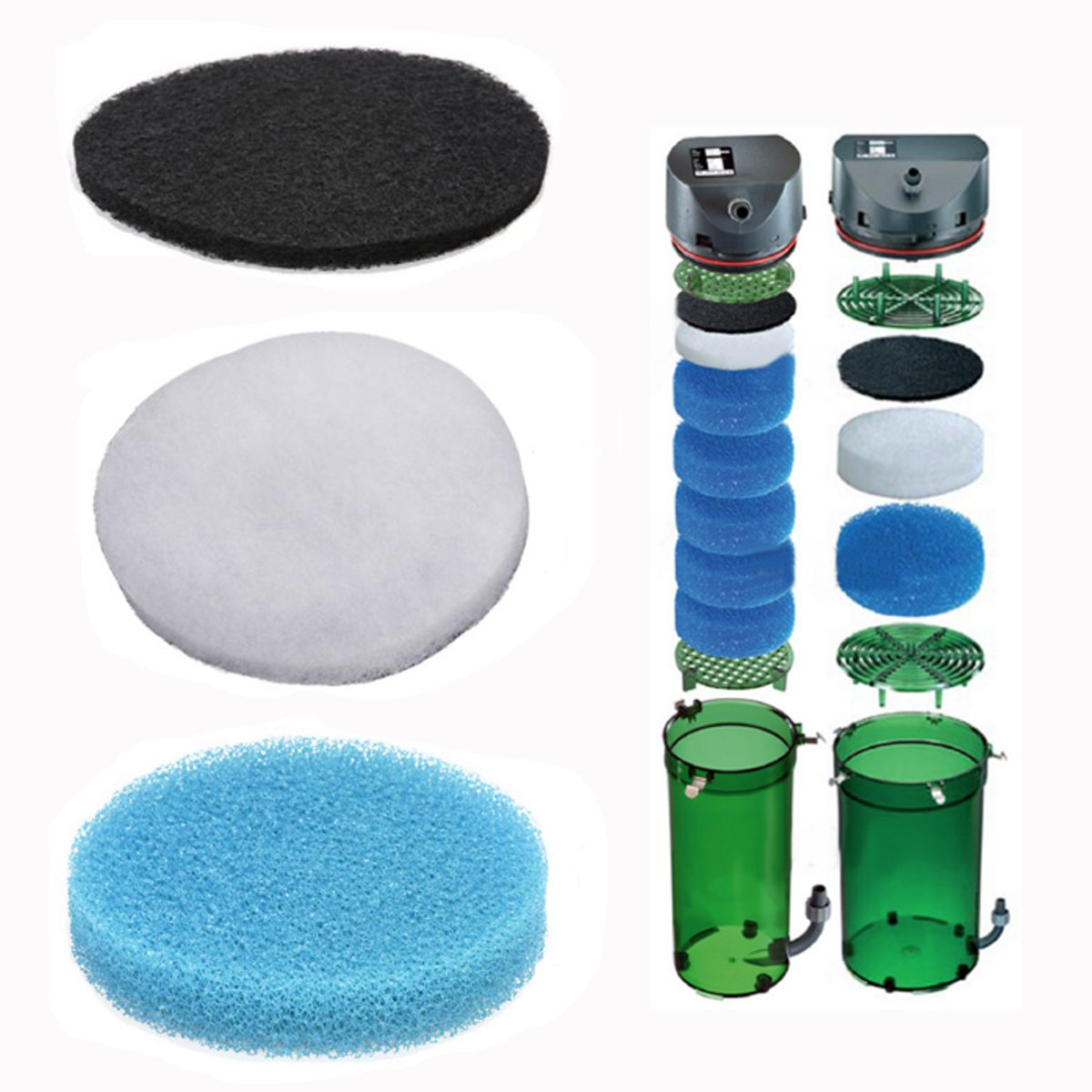 Fish Tank Aquarium Biochemical Carbon Cotton Filter Foam Sponge Pack For EHEIM Classic 250 Dirt Filtration Accessories Gadgets